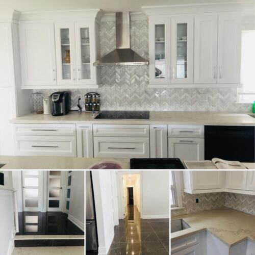 residential renovation collage