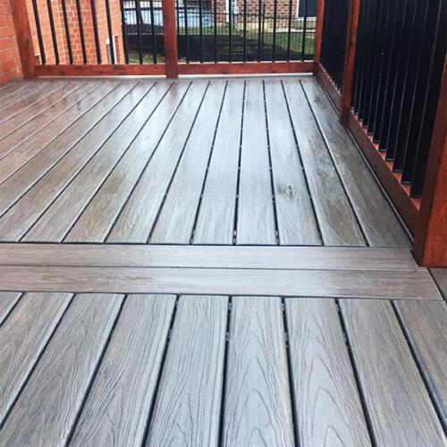 richmond hill backyard full deck stairs 10