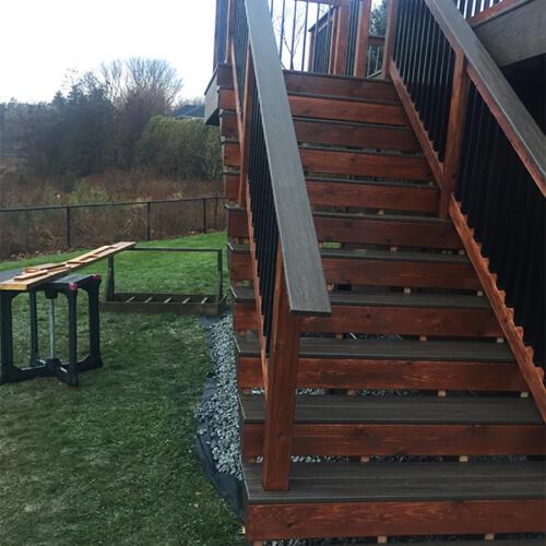 richmond hill backyard full deck stairs 9