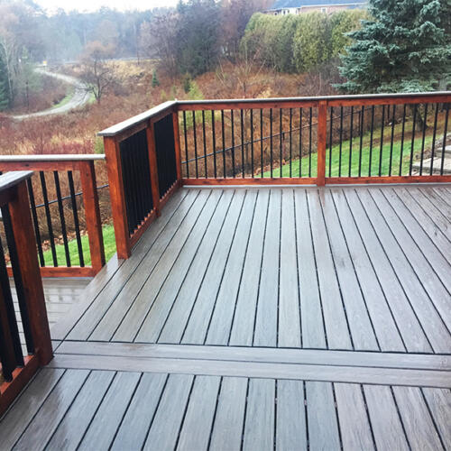 richmond hill backyard full deck stairs 7