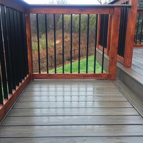 richmond hill backyard full deck stairs 5