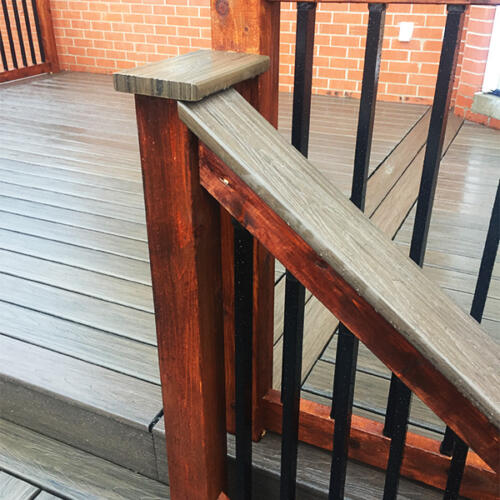 richmond hill backyard full deck stairs 4