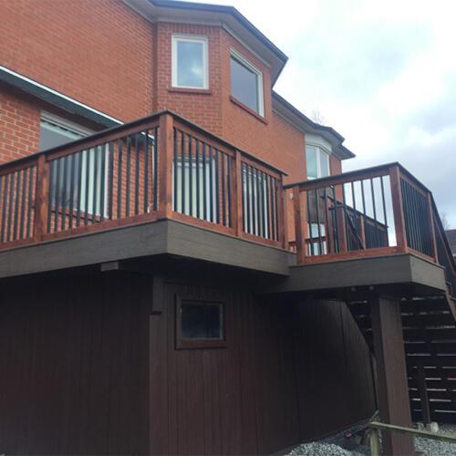 richmond hill backyard full deck stairs 2