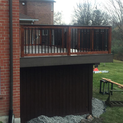 richmond hill backyard full deck stairs 1